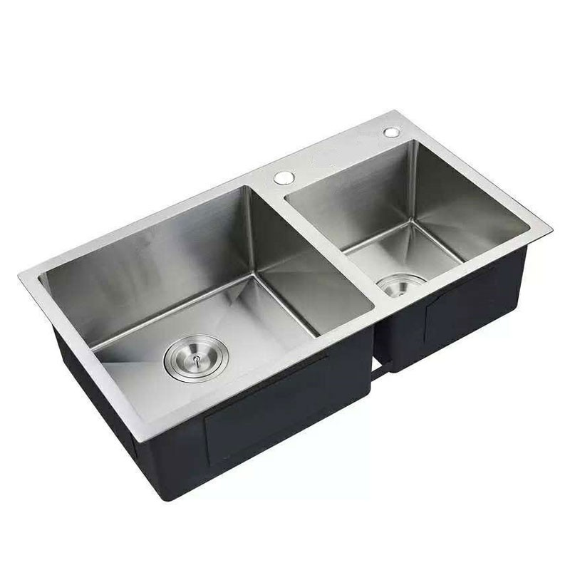 32 x 18 In. Stainless Steel Double Bowl Kitchen Sink (DTR3218-R10)