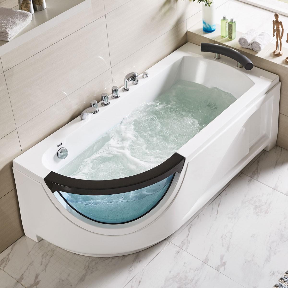 67 In Whirlpool Tub - Acrylic White (DK-Q307N)   Decoraport Canada
