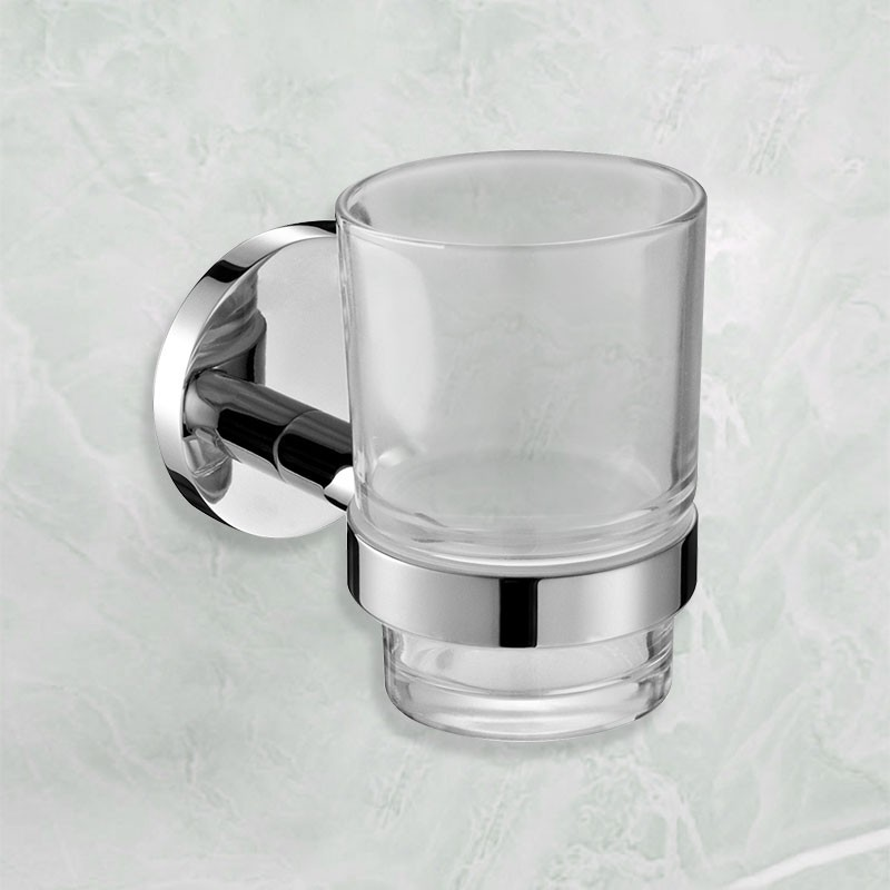 Round Tumbler Holder - Chrome Brass (6402)