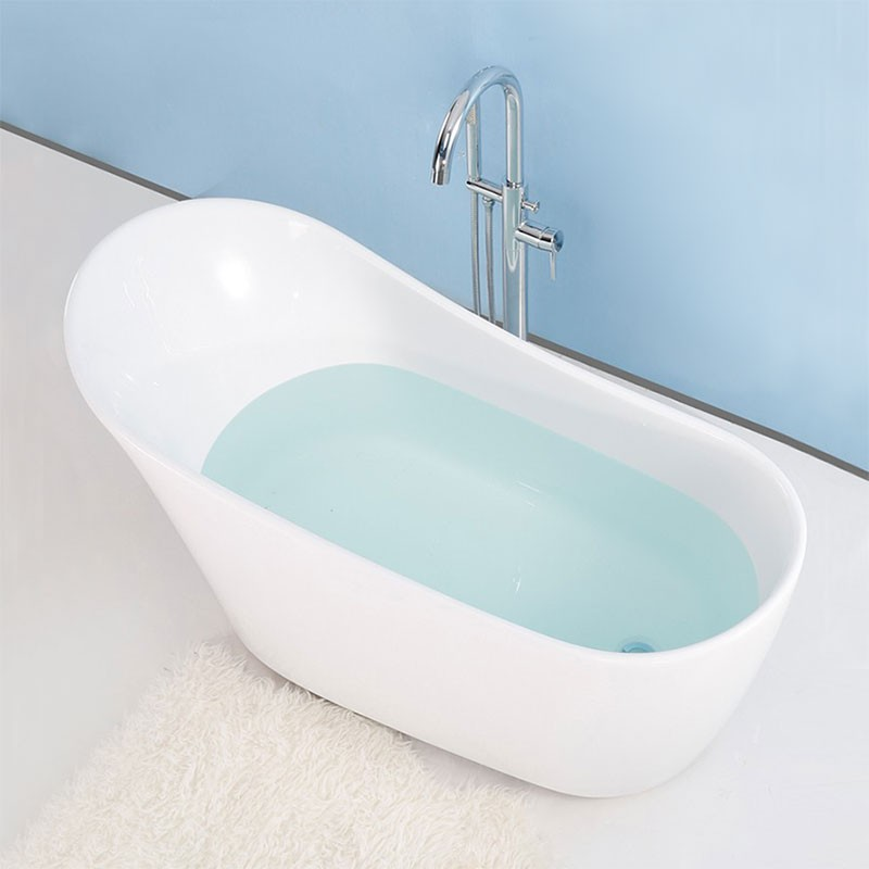 59 In Freestanding Bathtub - Acrylic Pure White (DK-PW-45572)