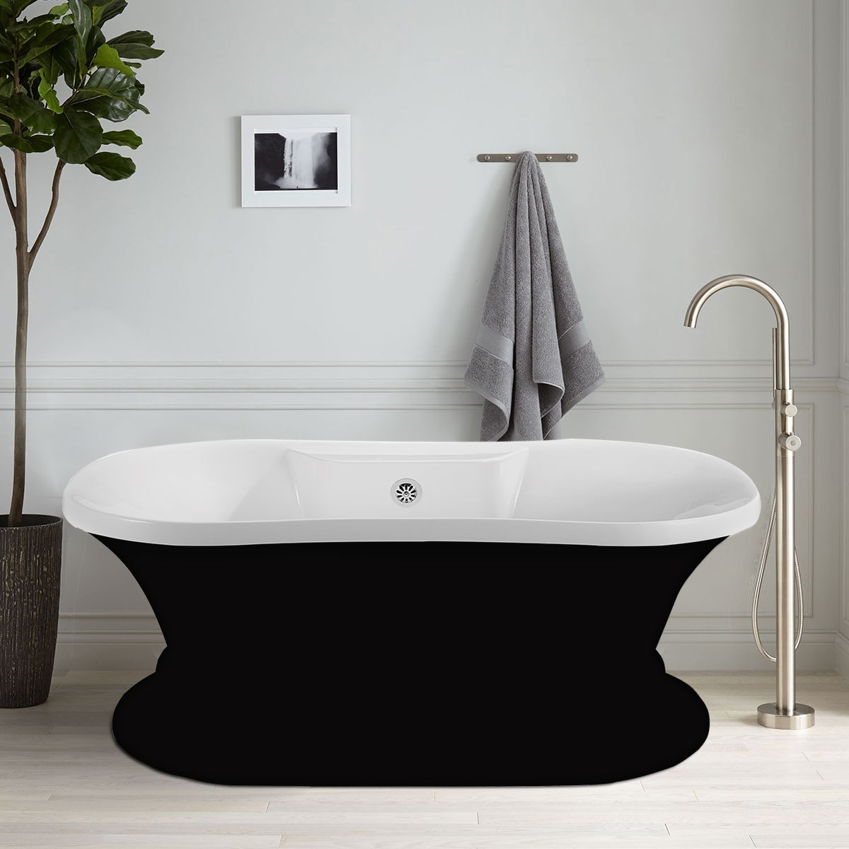 60 In Freestanding Bathtub Acrylic Black Dk A51601