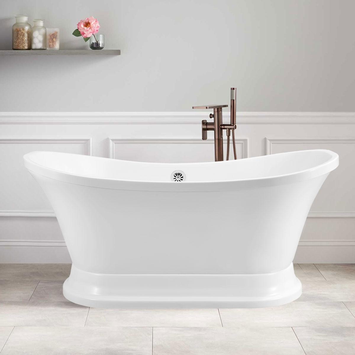 60 In Freestanding Bathtub - Acrylic Pure White (DK-PW-A52603)