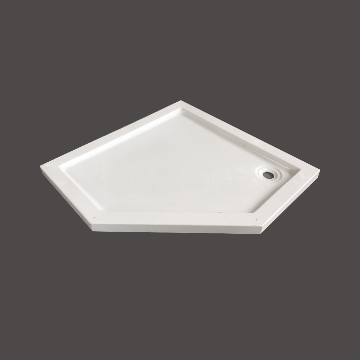 35 x 35 ln White Shower Base (DK-T412)