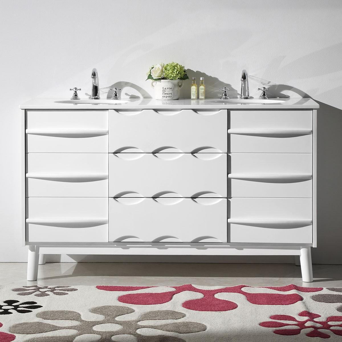 60 In. Boxwood Freestanding Bathroom Vanity (DK-5060)