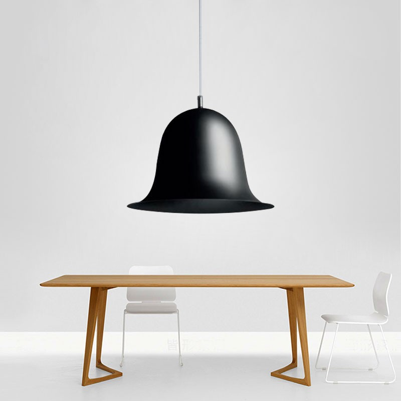 1-Light Black Iron Modern Pendant Light (HYMUP1210C-1)