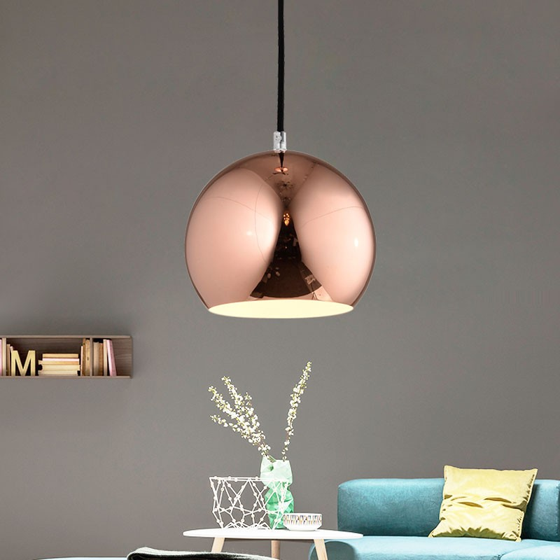 1-Light Gold Iron Modern Pendant Light (HKP31448-1)