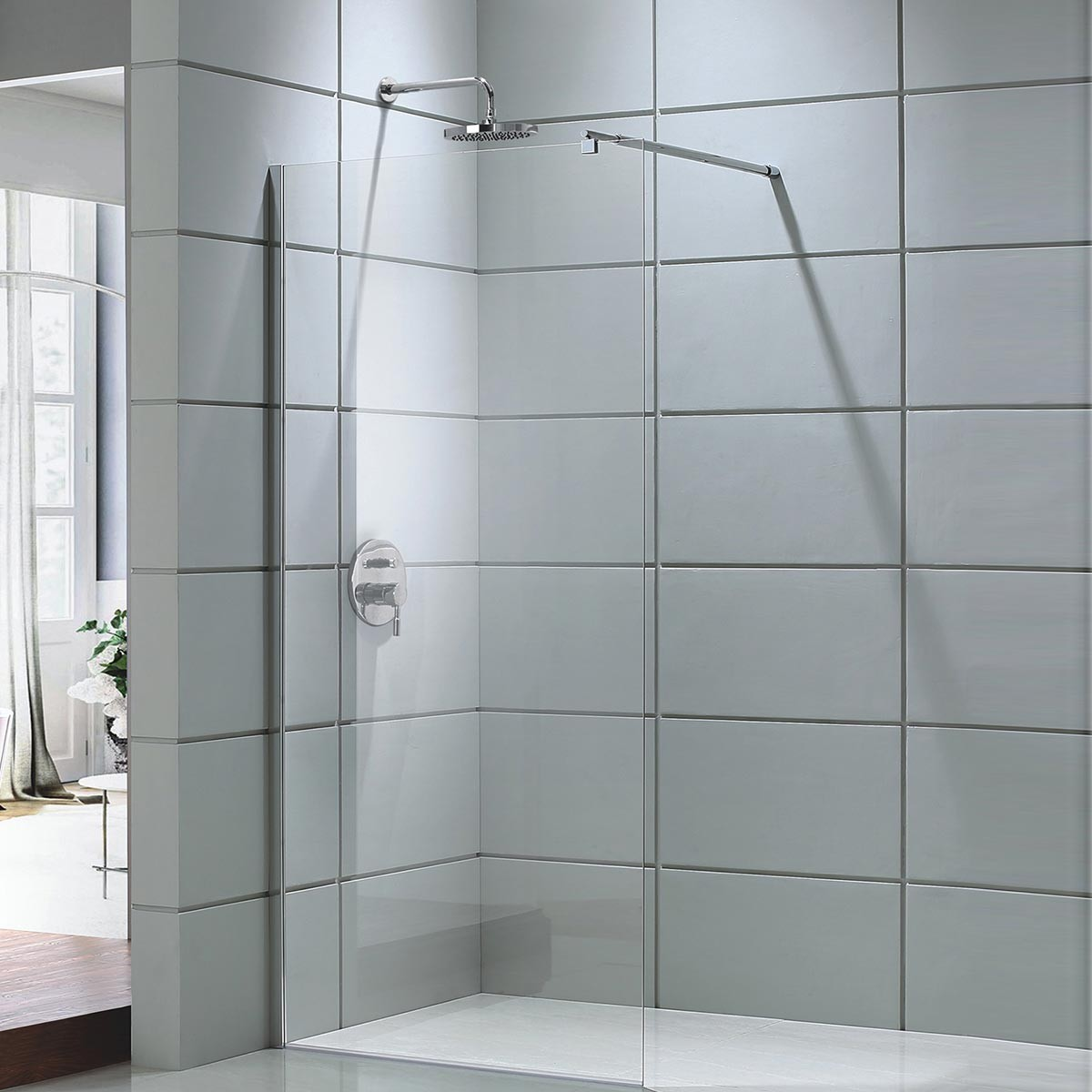 39 x 75 In. Walk-in Frameless Shower Door (DK-D201-100)