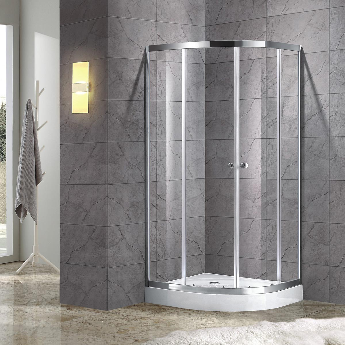 39 x 39 x 75 In. Shower Enclosure (DK-D101-100)