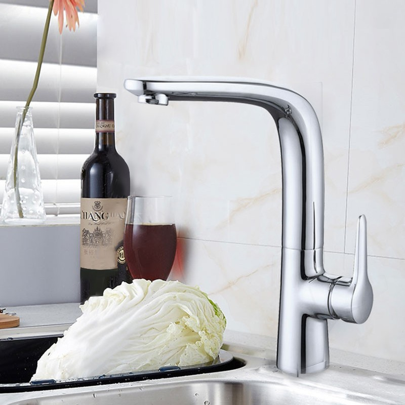 Chrome Finished Brass Kitchen Faucet (20001)