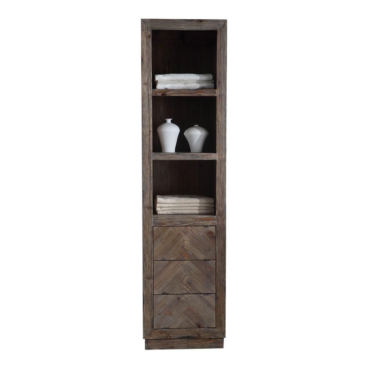 20 x 85 In. Freestanding Bathroom Linen Cabinet (DK-WH9320)