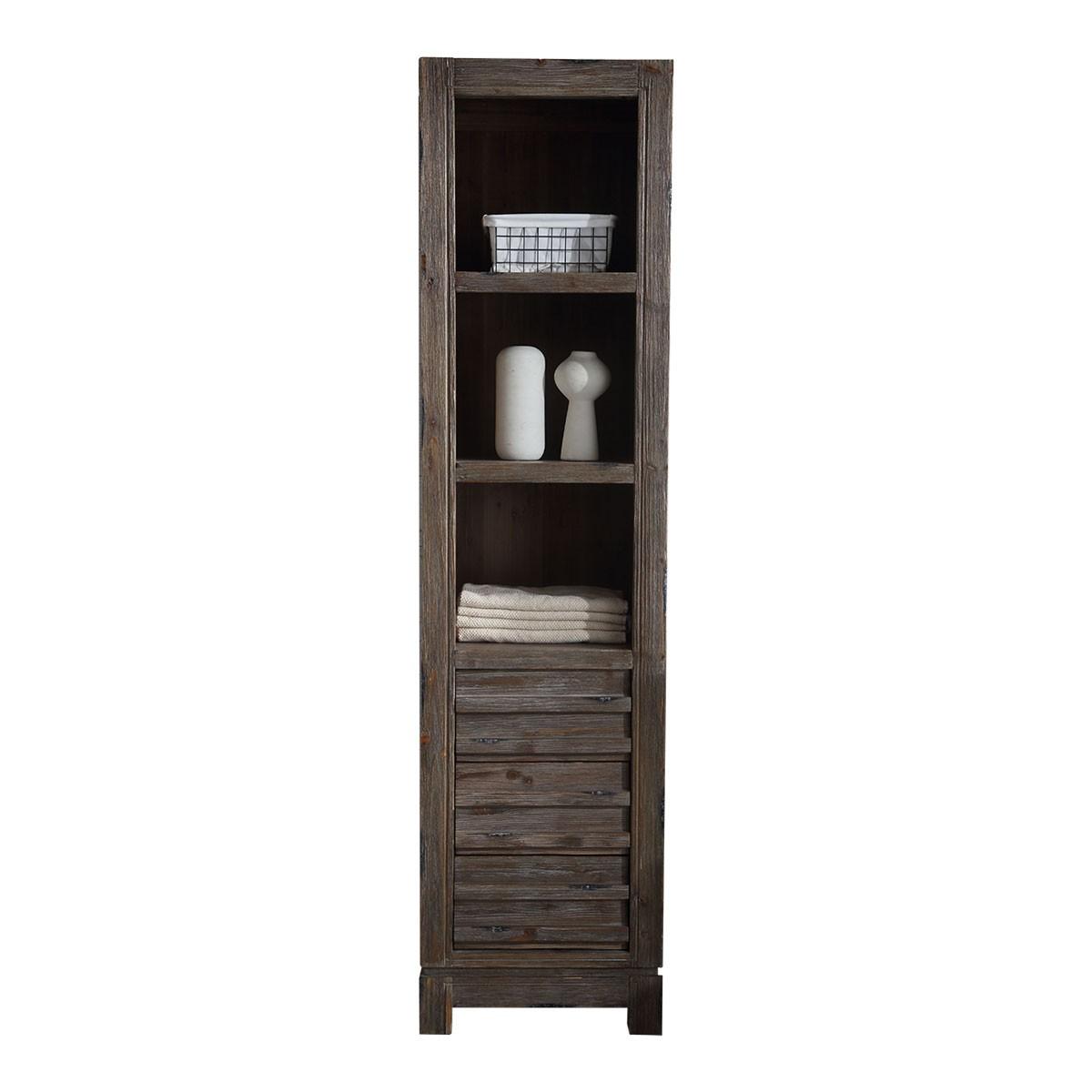 20 x 85 in freestanding bathroom linen cabinet dk wh9220 - Freestanding bathroom linen closet ...