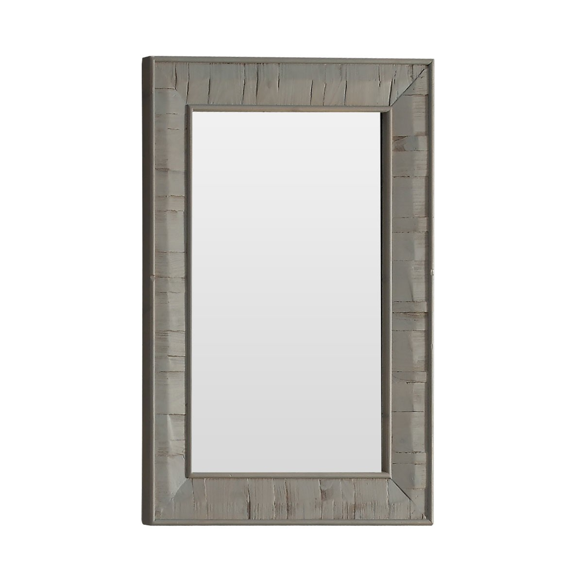 26 x 36 In Bath Vanity Décor Mirror with Fir Wood Frame (DK-WK9226-GY)