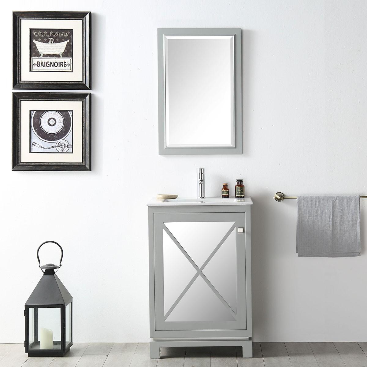 24 In. Freestanding Bathroom Vanity Set (DK-N524-CG-SET)