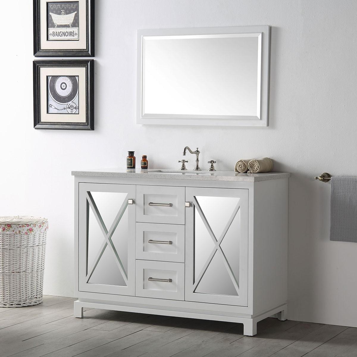 48 In. Bathroom Vanity Set (DK-6448-W-SET)