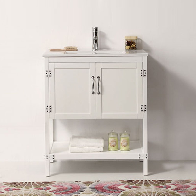 30 In. Boxwood Freestanding Bathroom Vanity (DK-5930-W-V)