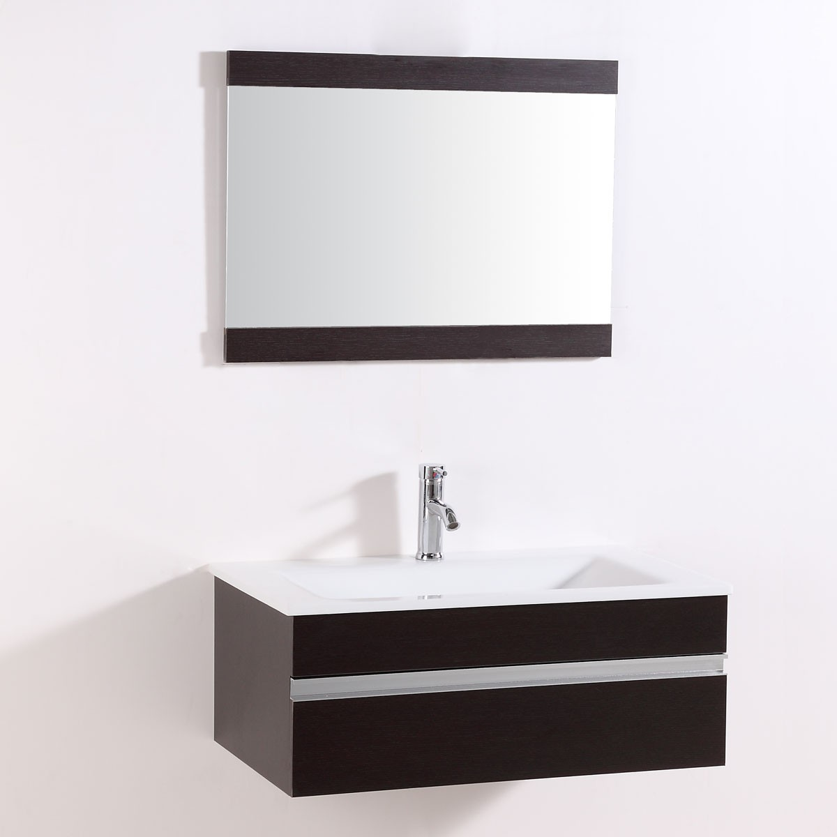 32 In. Wall Mount Bathroom Vanity Set with Single Sink and Mirror (DK-TH9021D-SET)