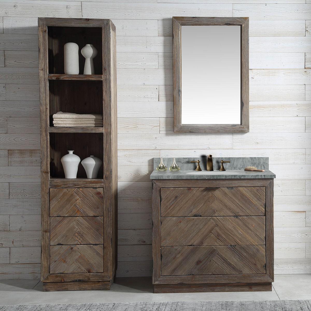 36 In. Freestanding Bathroom Vanity Set (DK-WH9636-BR-SET)