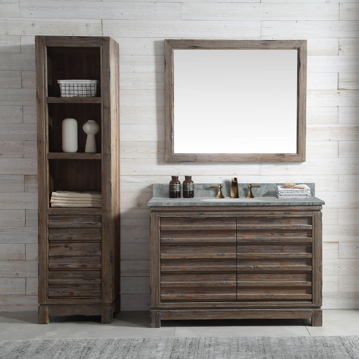 48 In. Freestanding Bathroom Vanity Set (DK-WH9548-BR-SET)