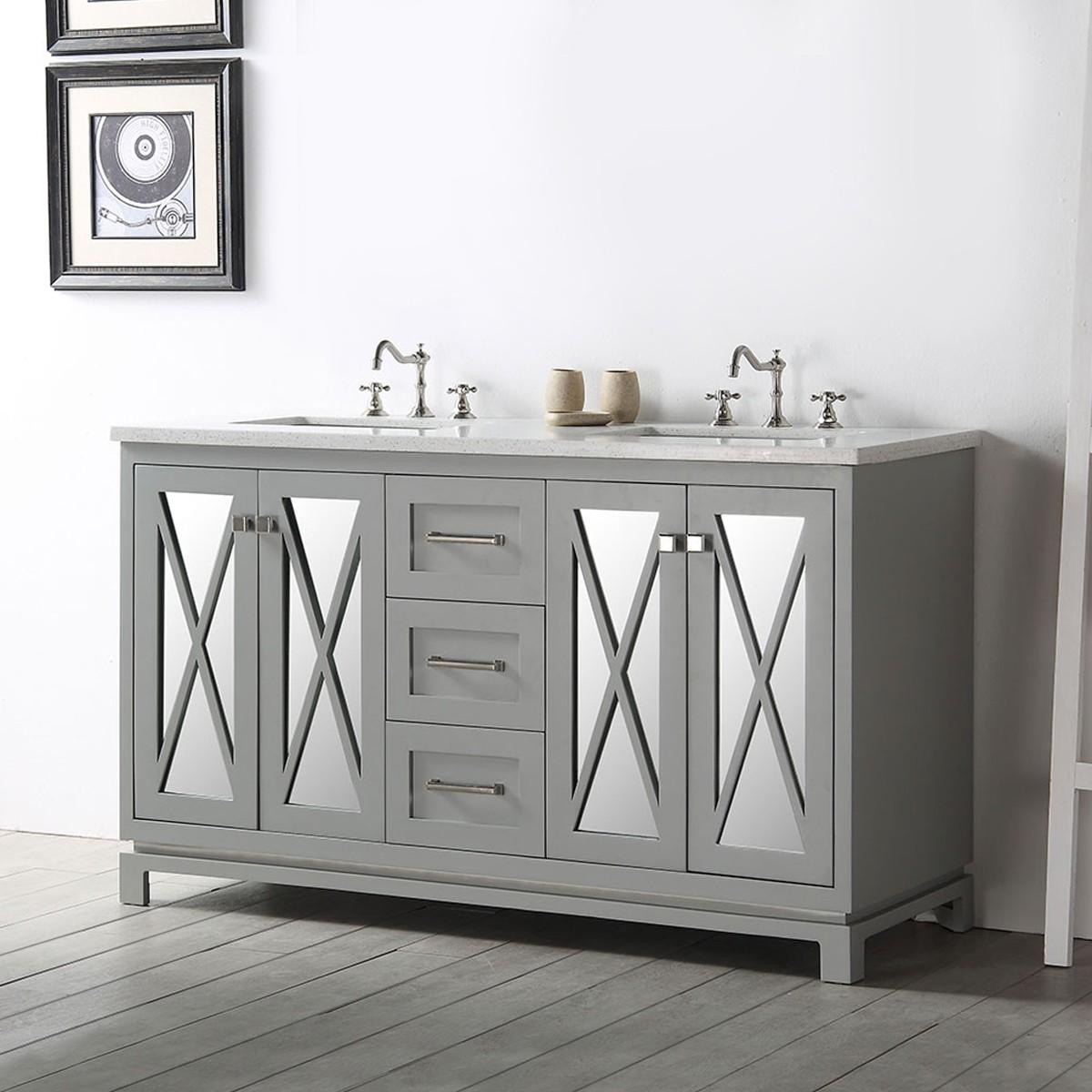 60 In. Bathroom Vanity (DK-6460-CG)