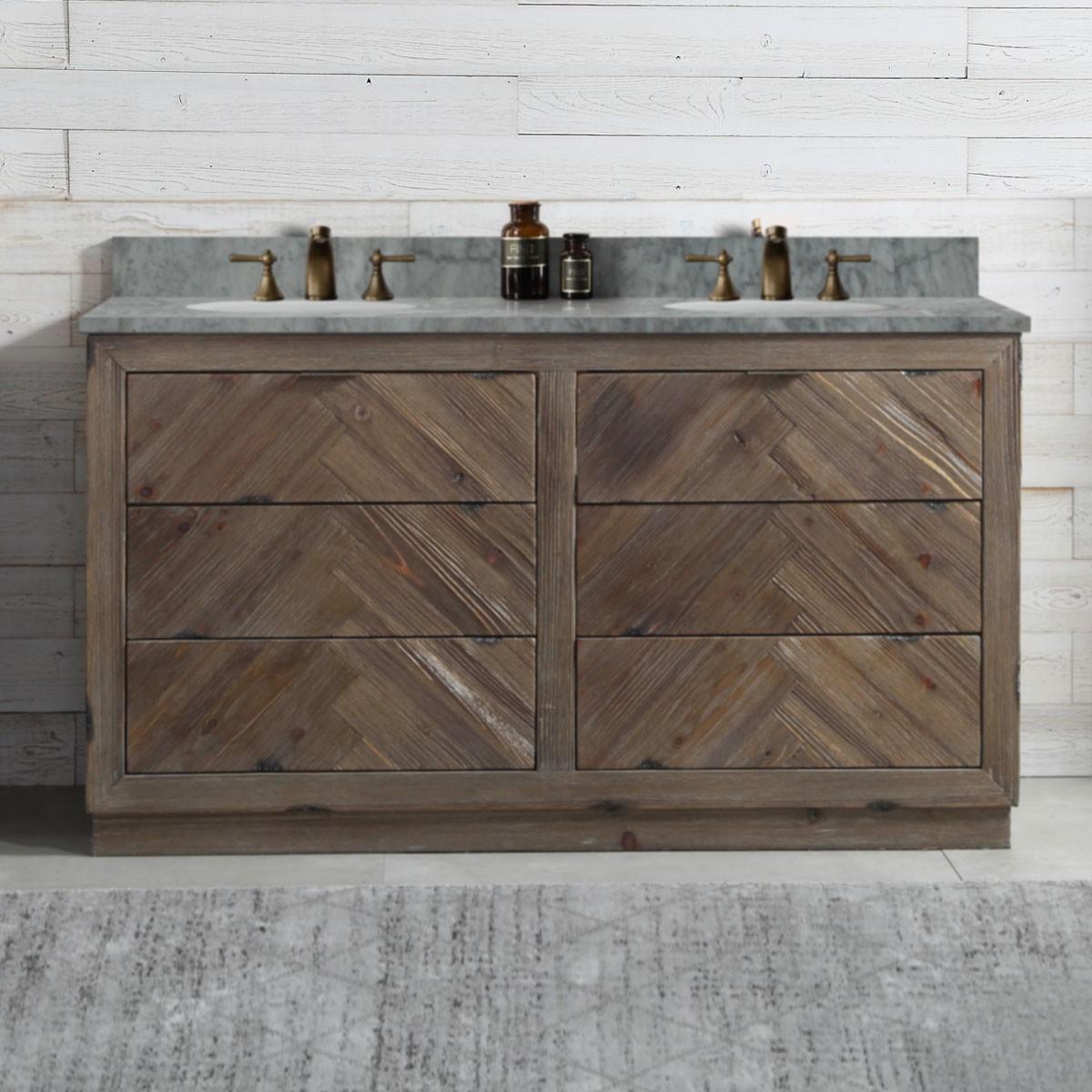 60 In. Freestanding Bathroom Vanity (DK-WH9660-BR)