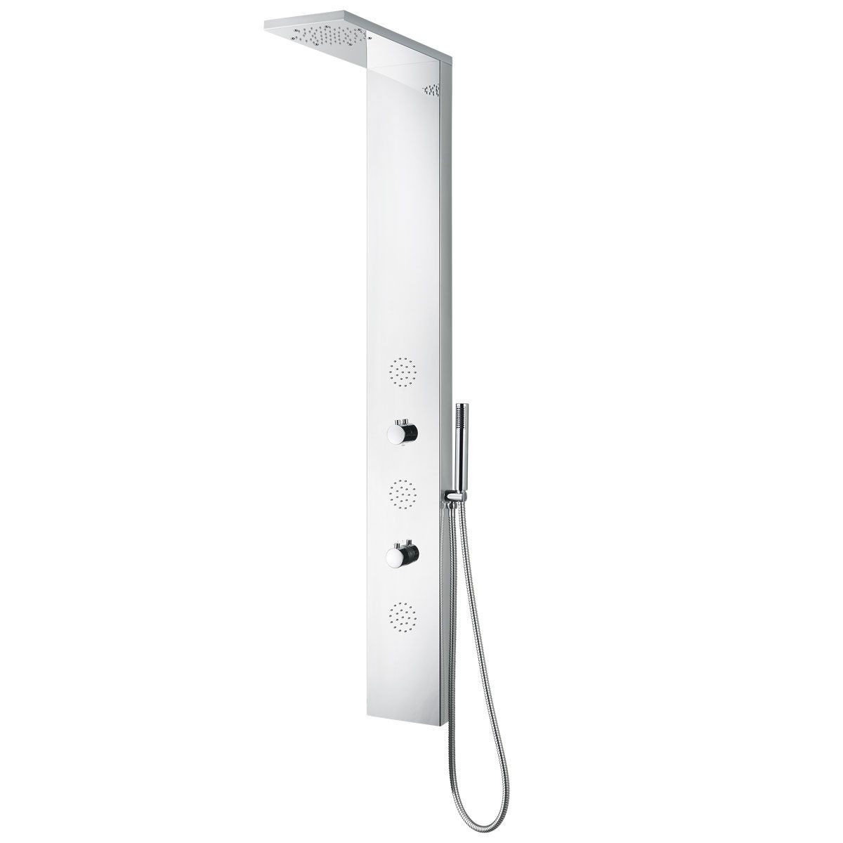 Chrome Stainless Steel Thermostatic Shower Panel System (JX-9813)