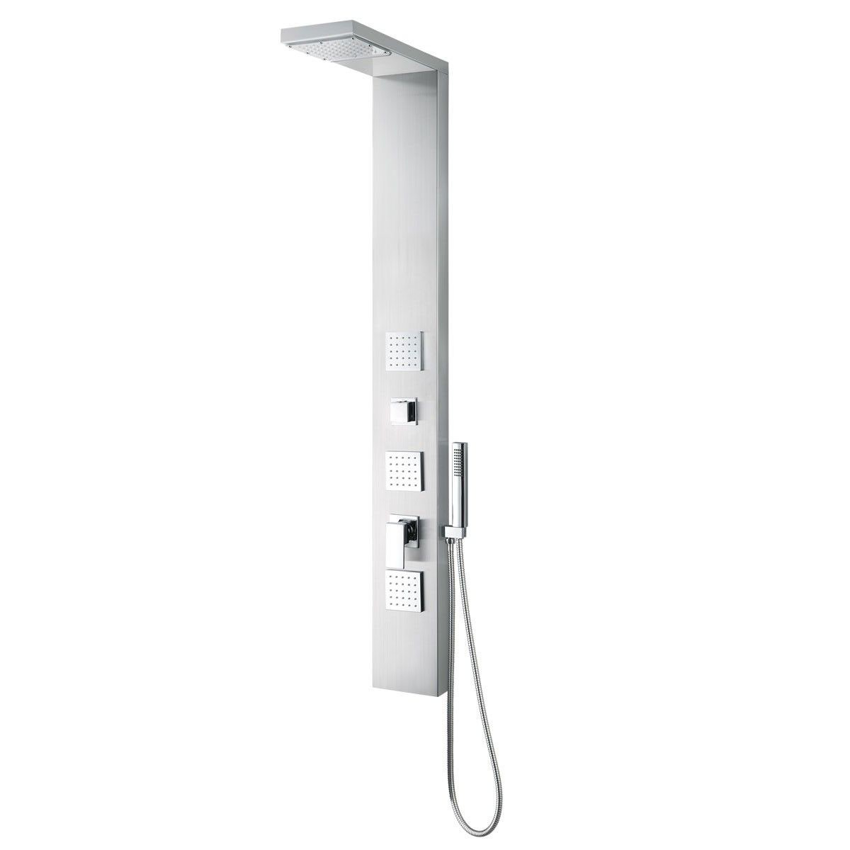 Brushed Stainless Steel Thermostatic Shower Panel System (JX-9851)