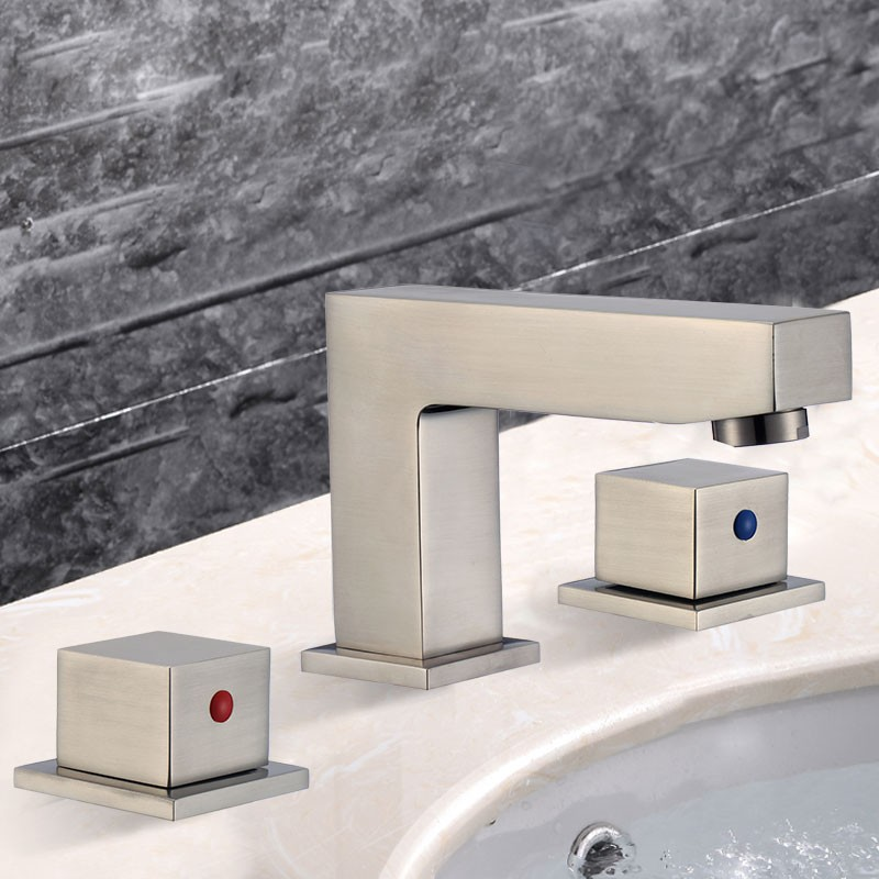 Basin&Sink Faucet - Brass with Brushed Finish (83H25-BN)