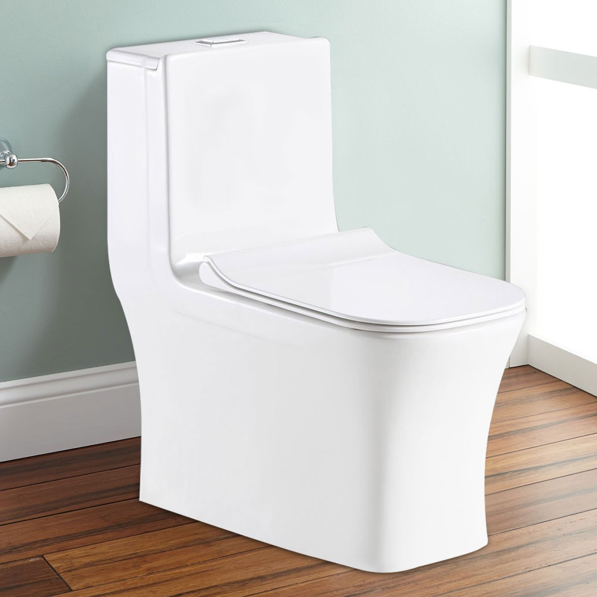 Dual Flush Siphonic One-piece Toilet (DK-ZBQ-12044C)