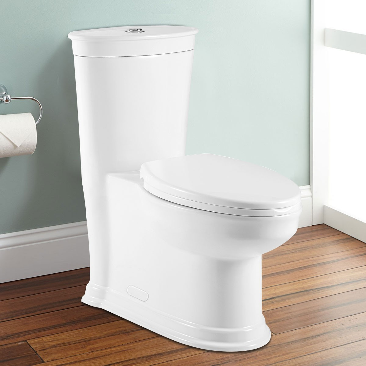 Dual Flush High Efficiency Water Saving One-piece Toilet (DK-ZBQ-12235)