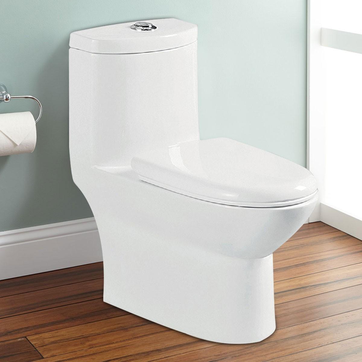 Dual Flush Siphonic One-piece Toilet (DK-ZBQ-12244)