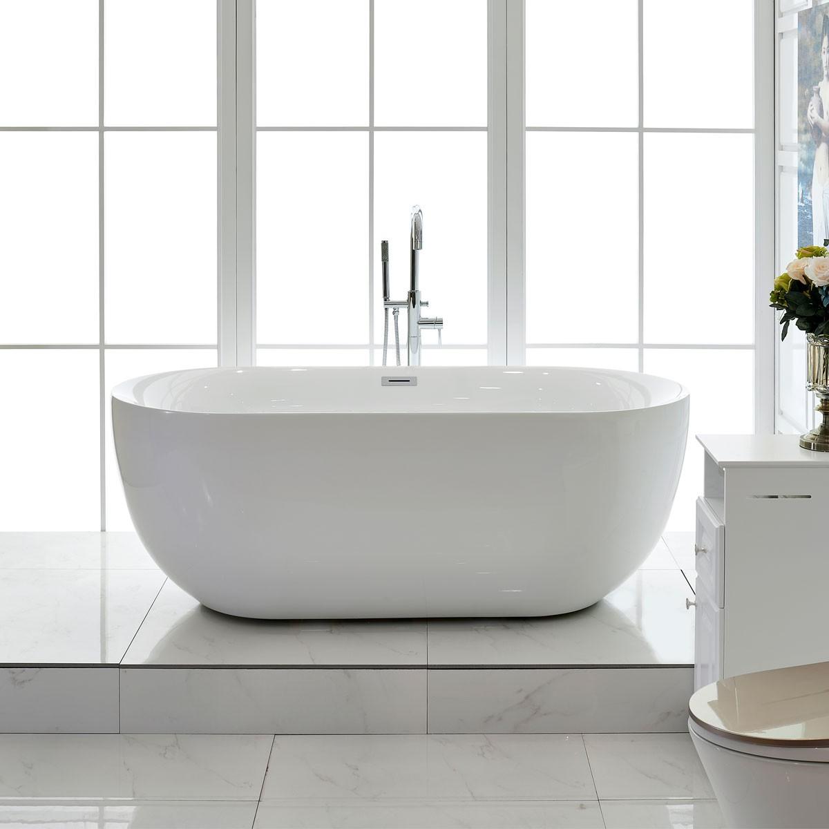 67 In Freestanding Bathtub - Acrylic Pure White (DK-PW-44778)