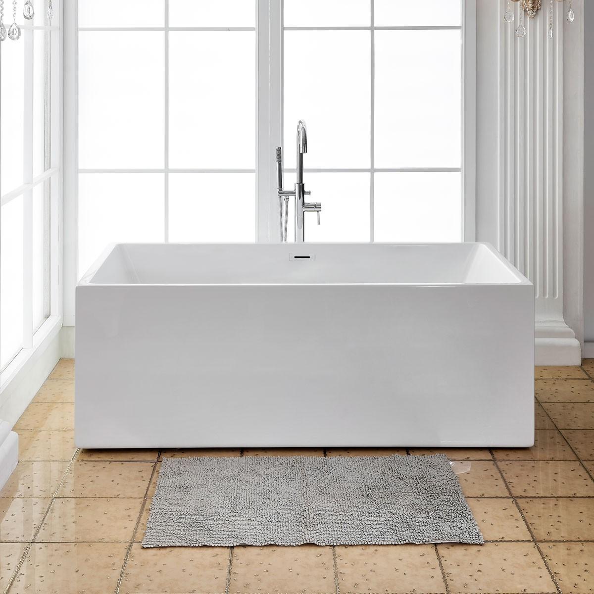 60 In Freestanding Bathtub - Acrylic Pure White (DK-PW-1564)
