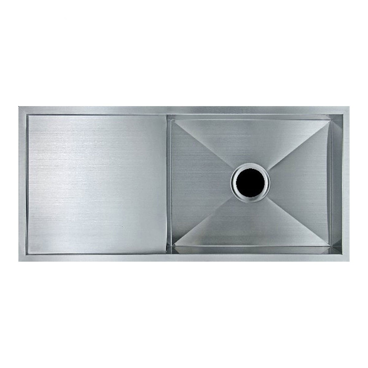 Stainless Steel Single Bowl Kitchen Sink (ABR2918-R0) | Decoraport ...