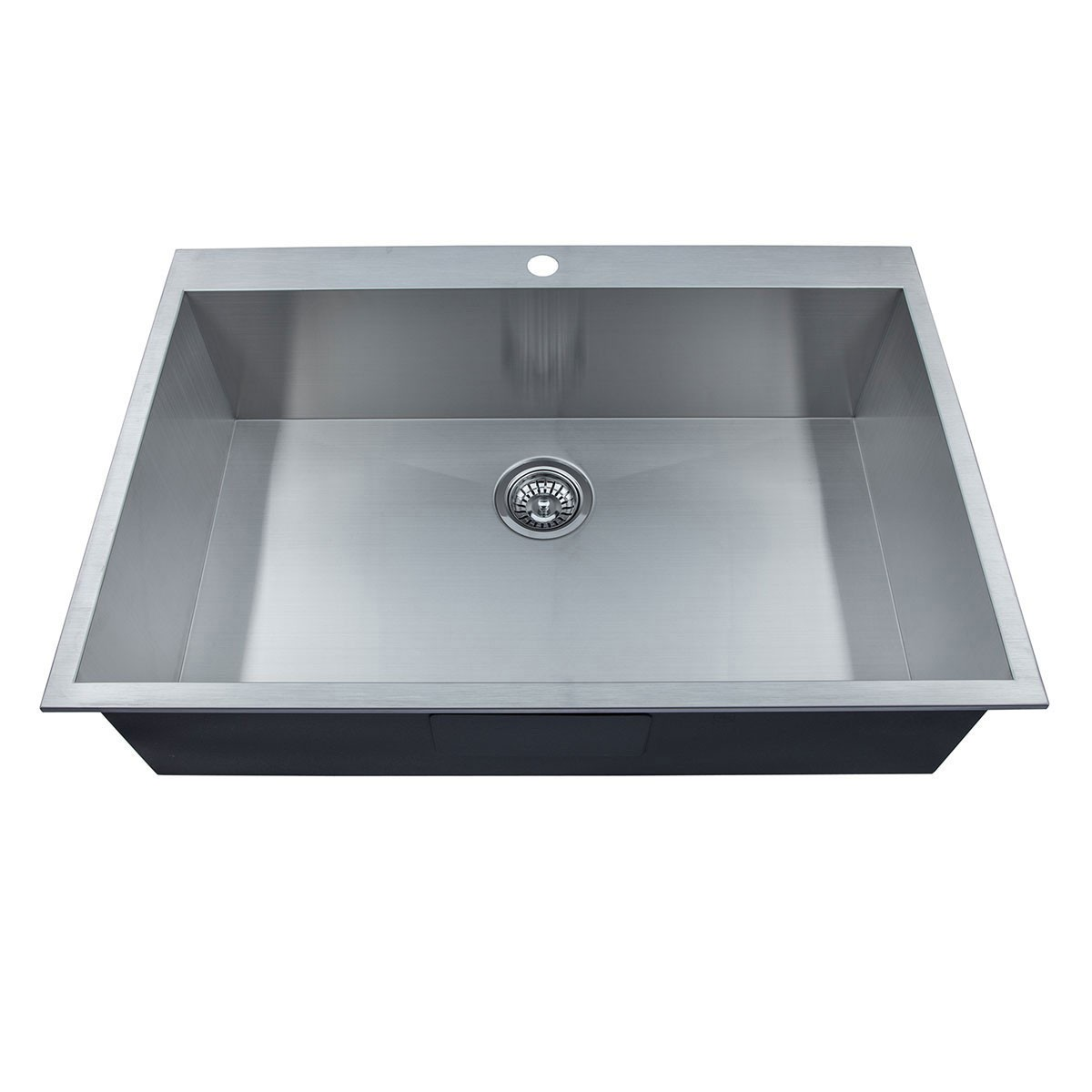 33 x 22 In. Stainless Steel Handmade Kitchen Sink (AS3322-R0)
