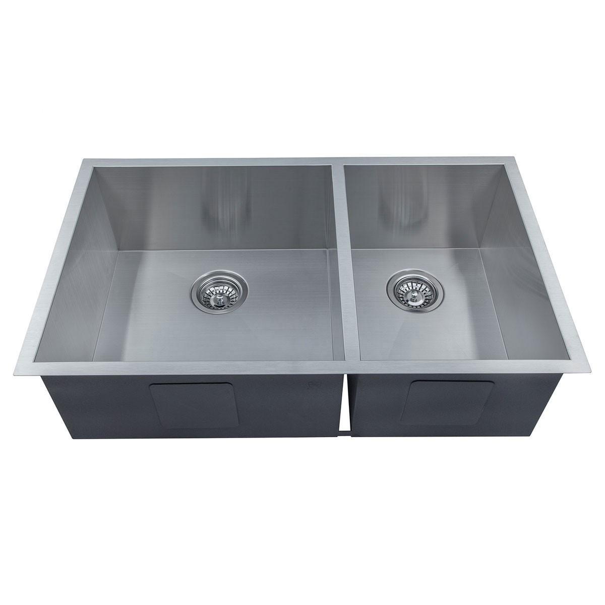 33 x 20 In. Stainless Steel Handmade Kitchen Sink (D3320-R0)