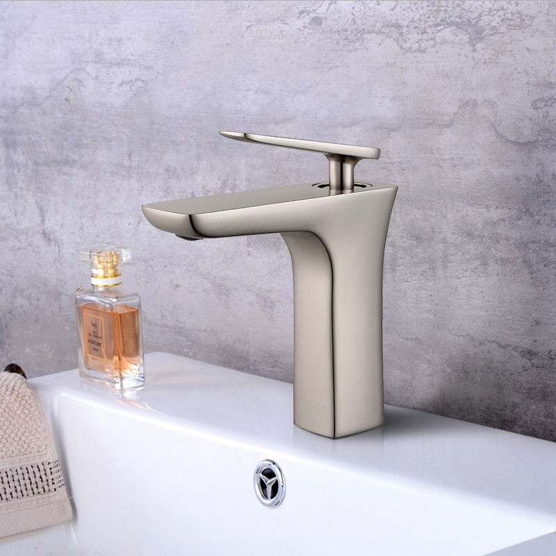 Basin&Sink Faucet - Brass with Brushed Finish (YDL-T13BN)