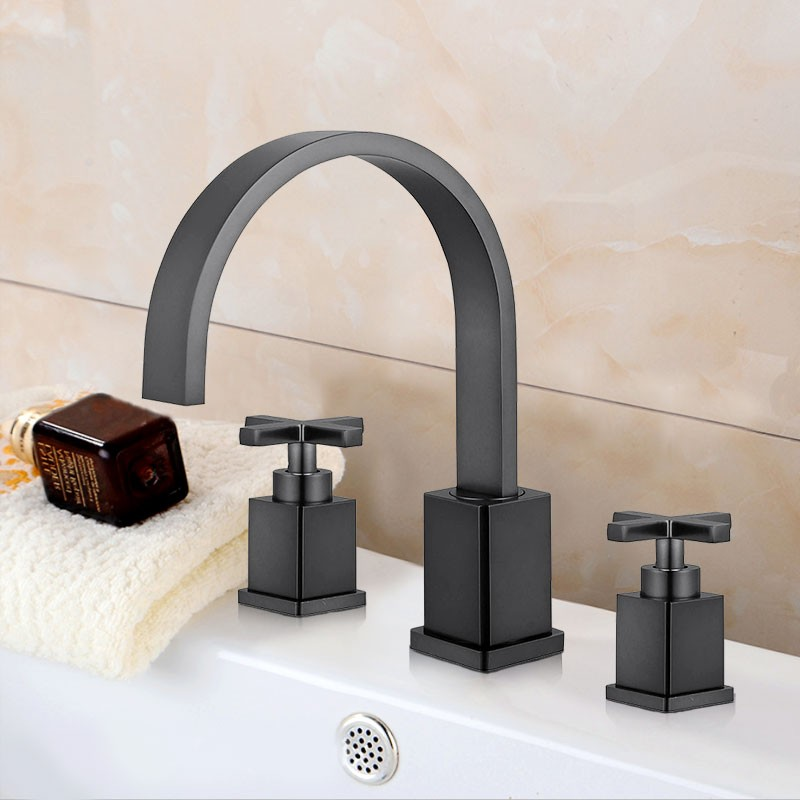 Basin&Sink Faucet - Brass with Matte Black Finish (Y2511OR)