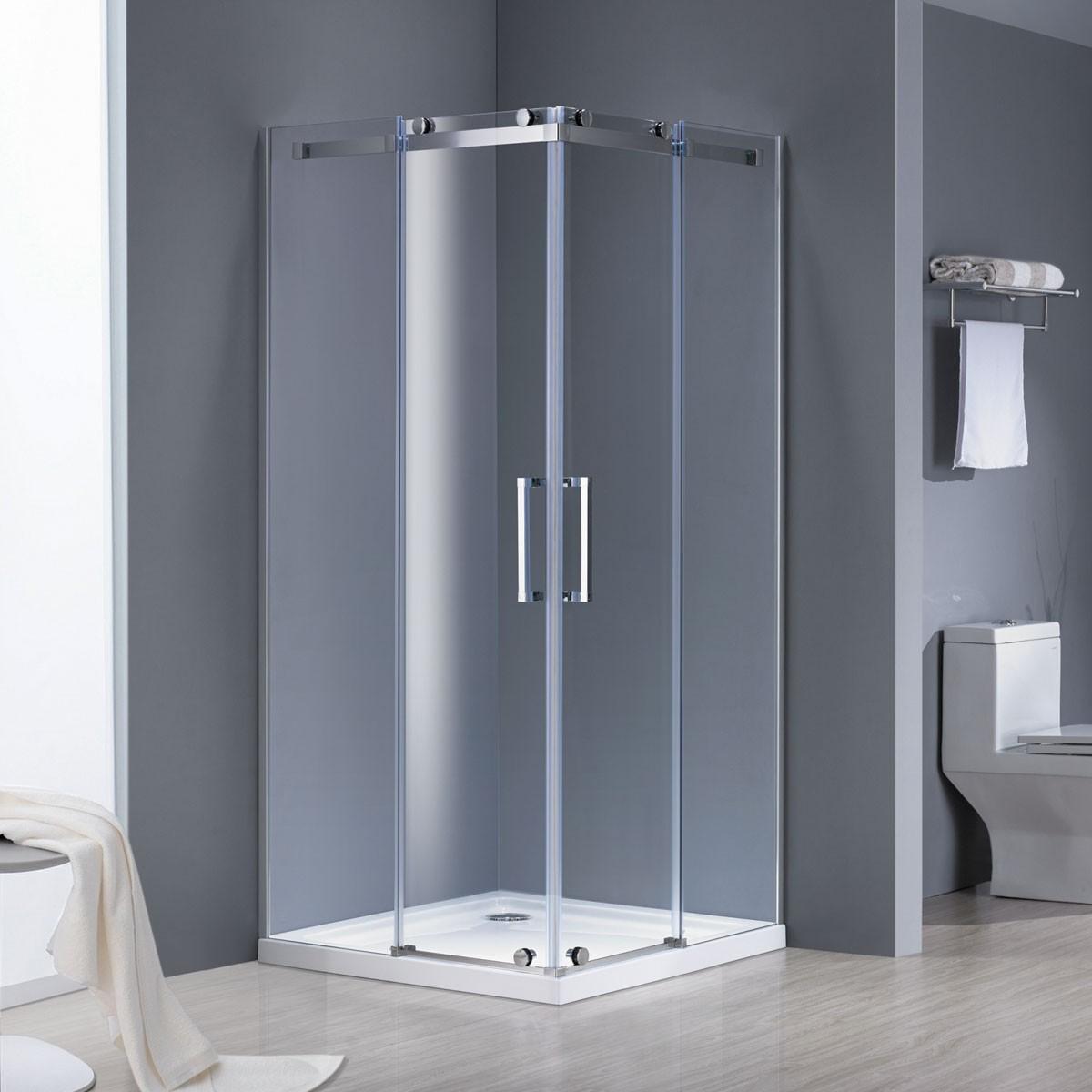 36 X 36 In Corner Entry Sliding Shower Door Dk Am6001 6