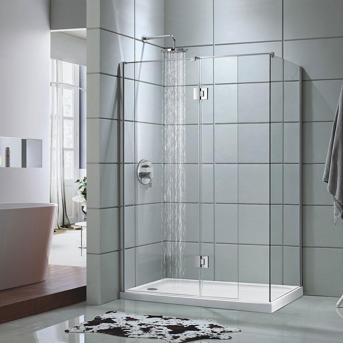 48 In. Pivot Shower Door with 36 In. Side Panel (DK-D205-90)