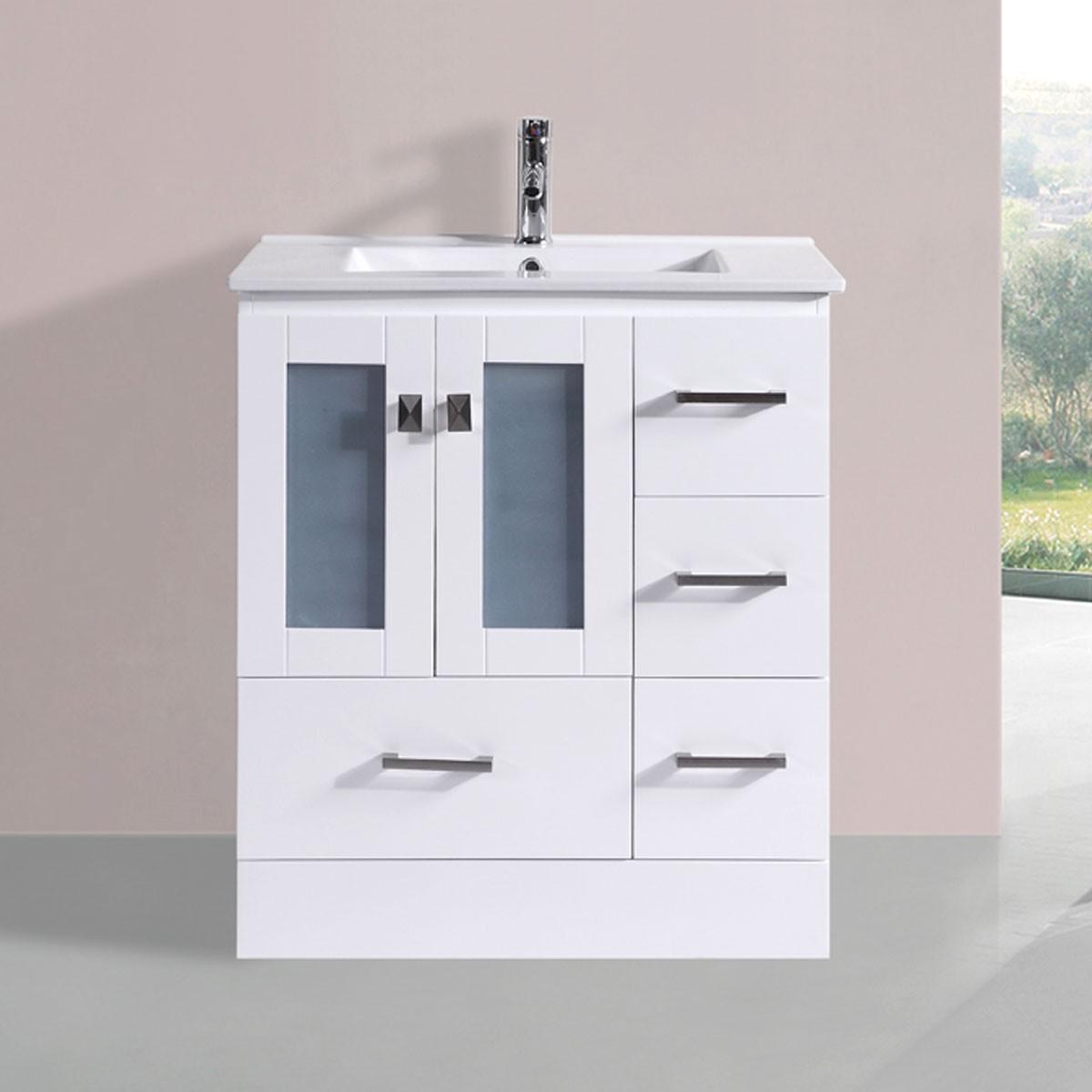 30 In. Plywood Vanity with Basin (DK-T9312-30WV)