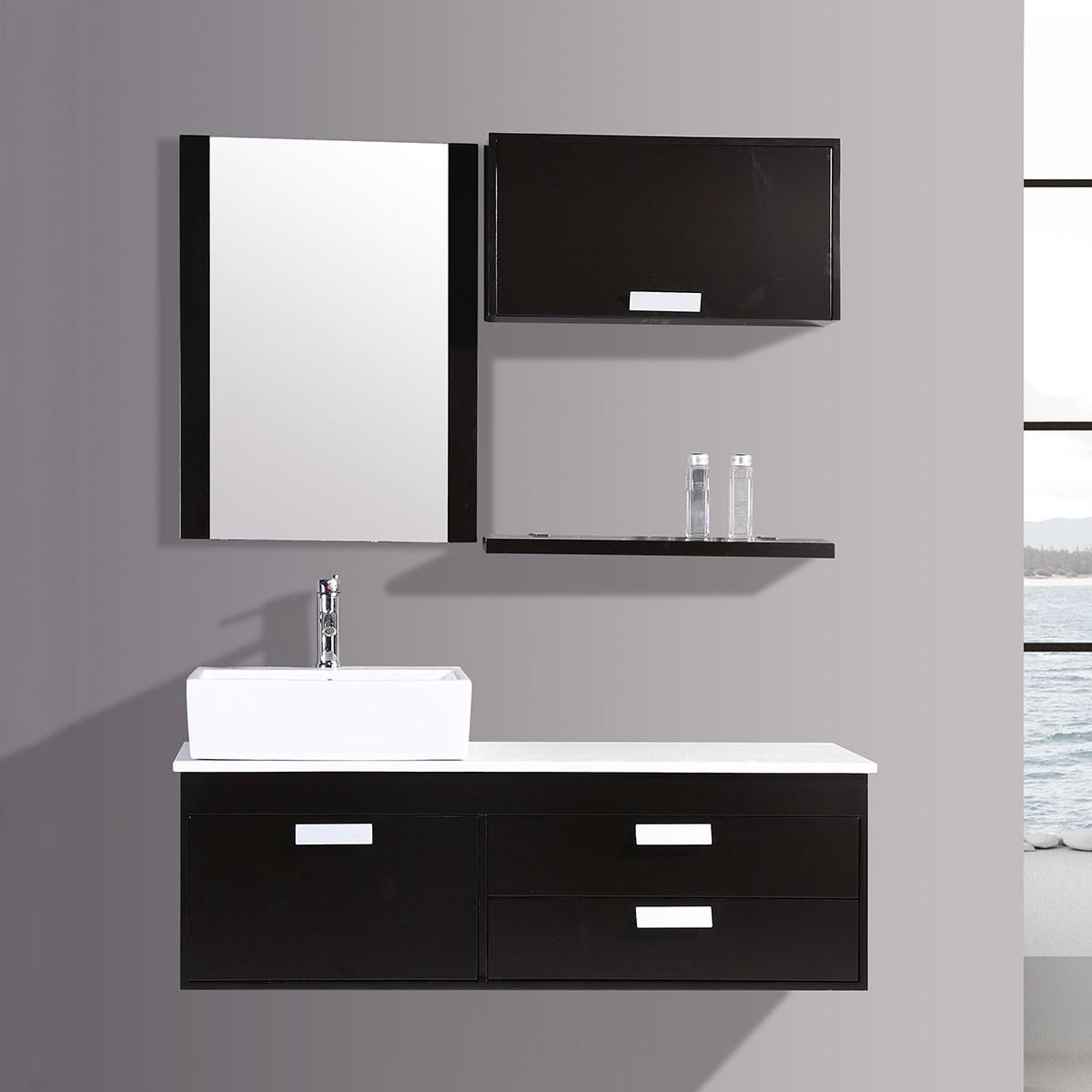 51 In. Espresso Plywood Vanity Sets (DK-T9099B-SET)