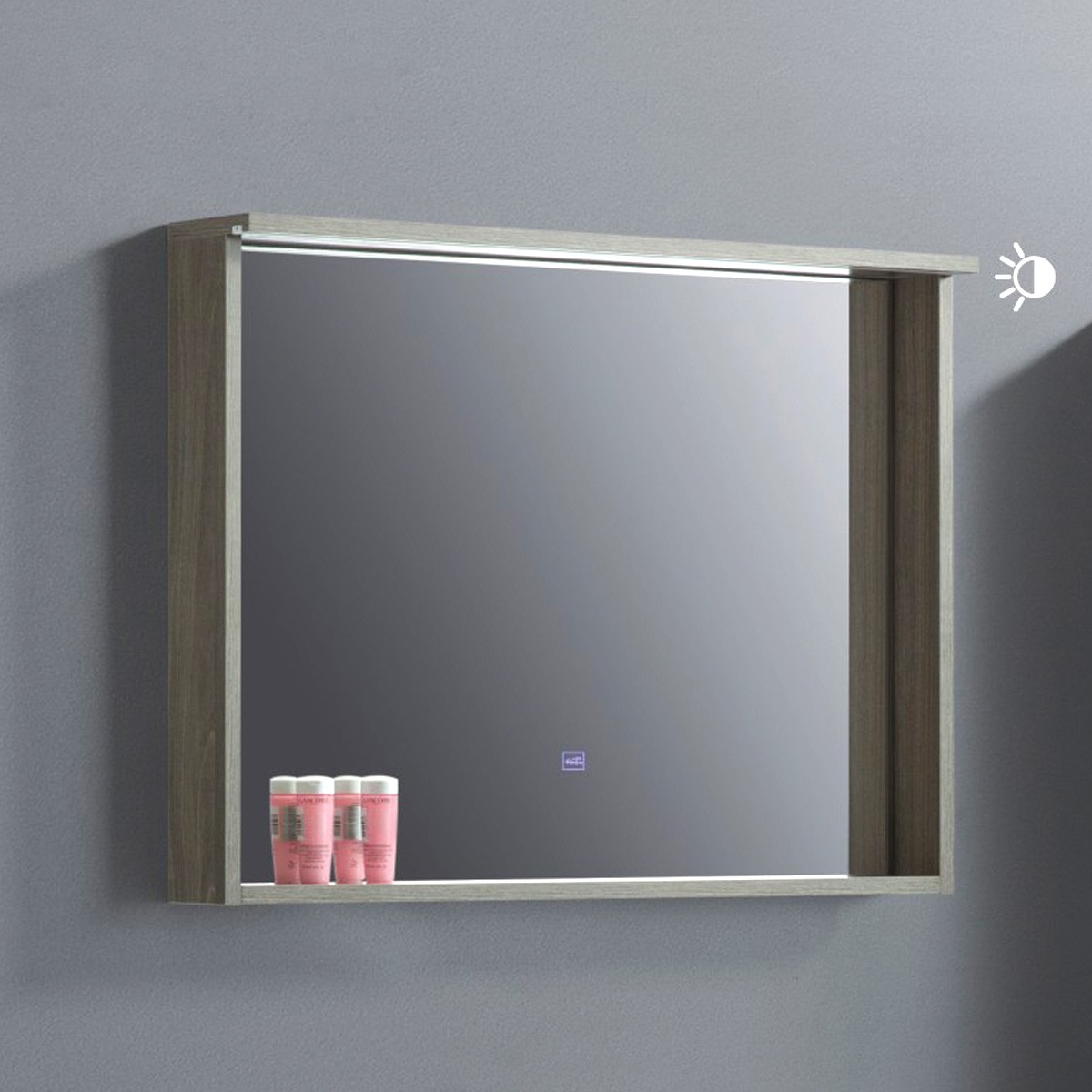 32 x 24 In. Bathroom Vanity LED Mirror with Shelf (VSW8001-M)
