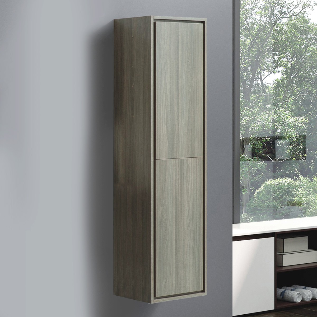 16 x 60 In. Wall Mount Linen Cabinet (VSW8002-S)