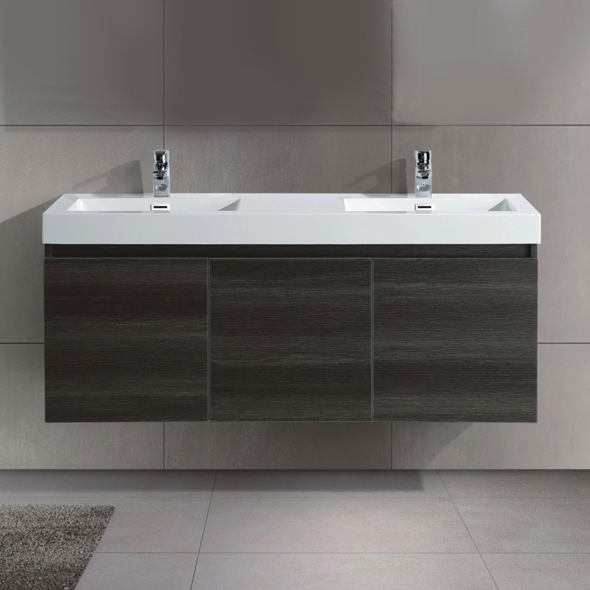 54 In. Wall Mount Vanity with Double Basin (JD054-V)