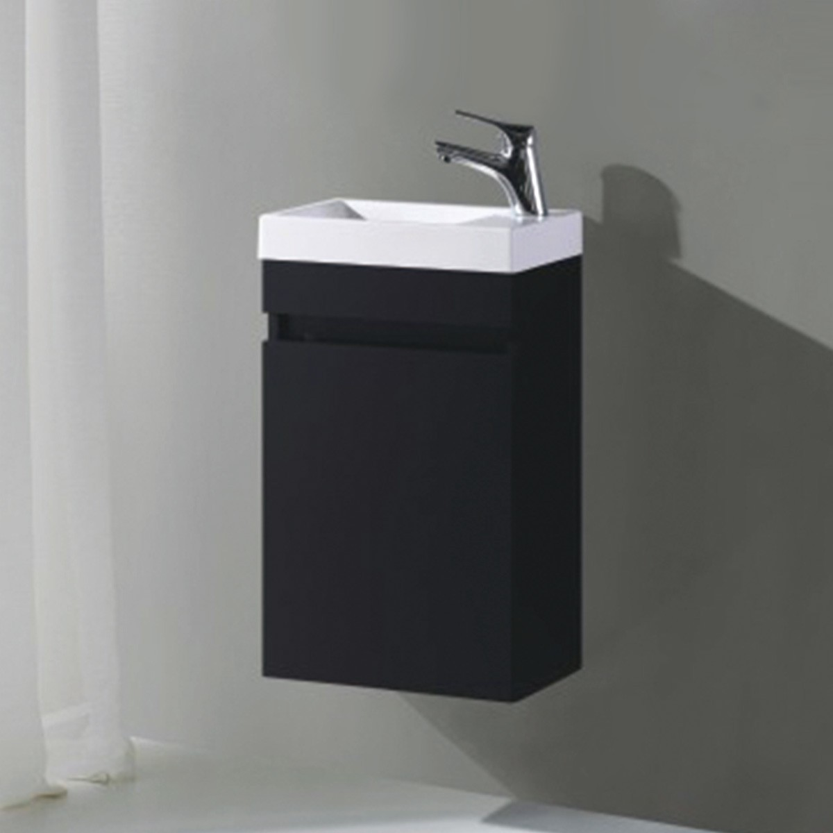 16 In. Wall Mount Vanity with Basin (MS400B-V)
