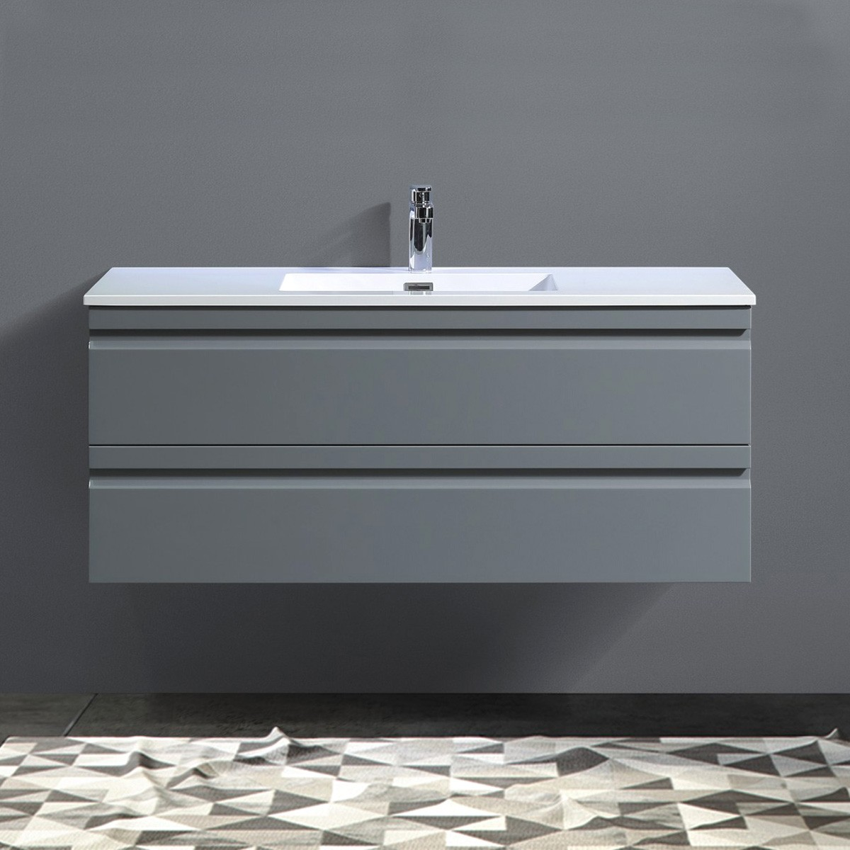 48 In. Wall Mount Vanity with Basin (ZRW1200GR-V)