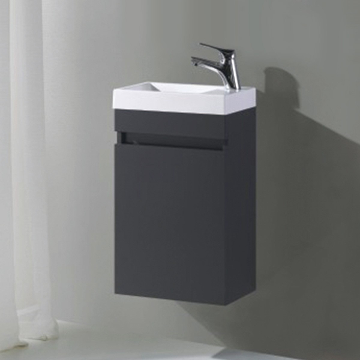 16 In. Wall Mount Vanity with Basin (MS400C-V)