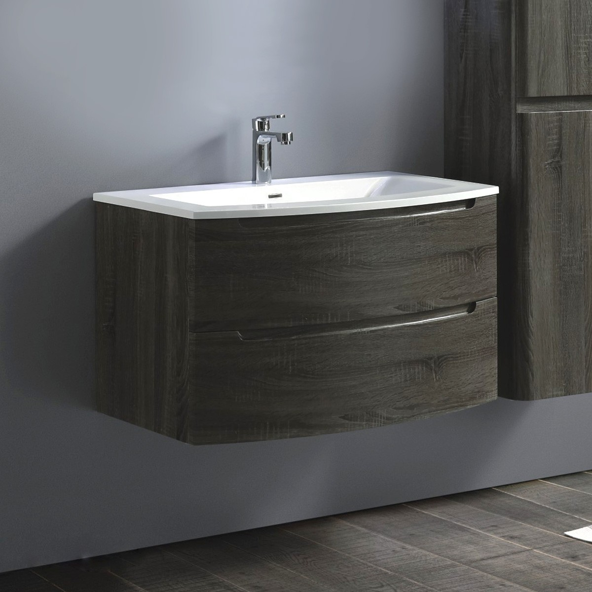 36 In. Wall Mount Vanity with Basin (ST-900-V)