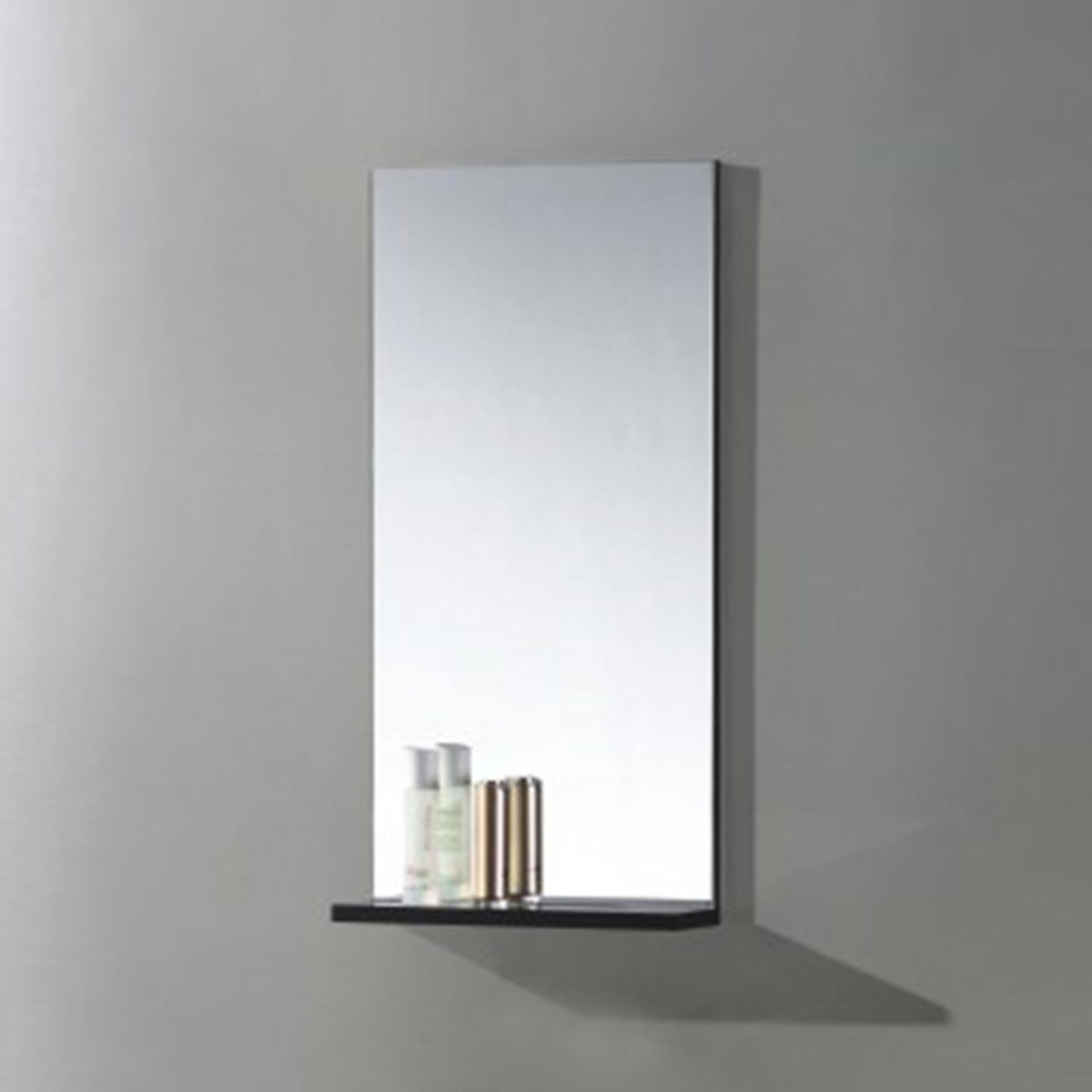 16 x 32 In. Bathroom Mirror with Shelf (MS400B-M)