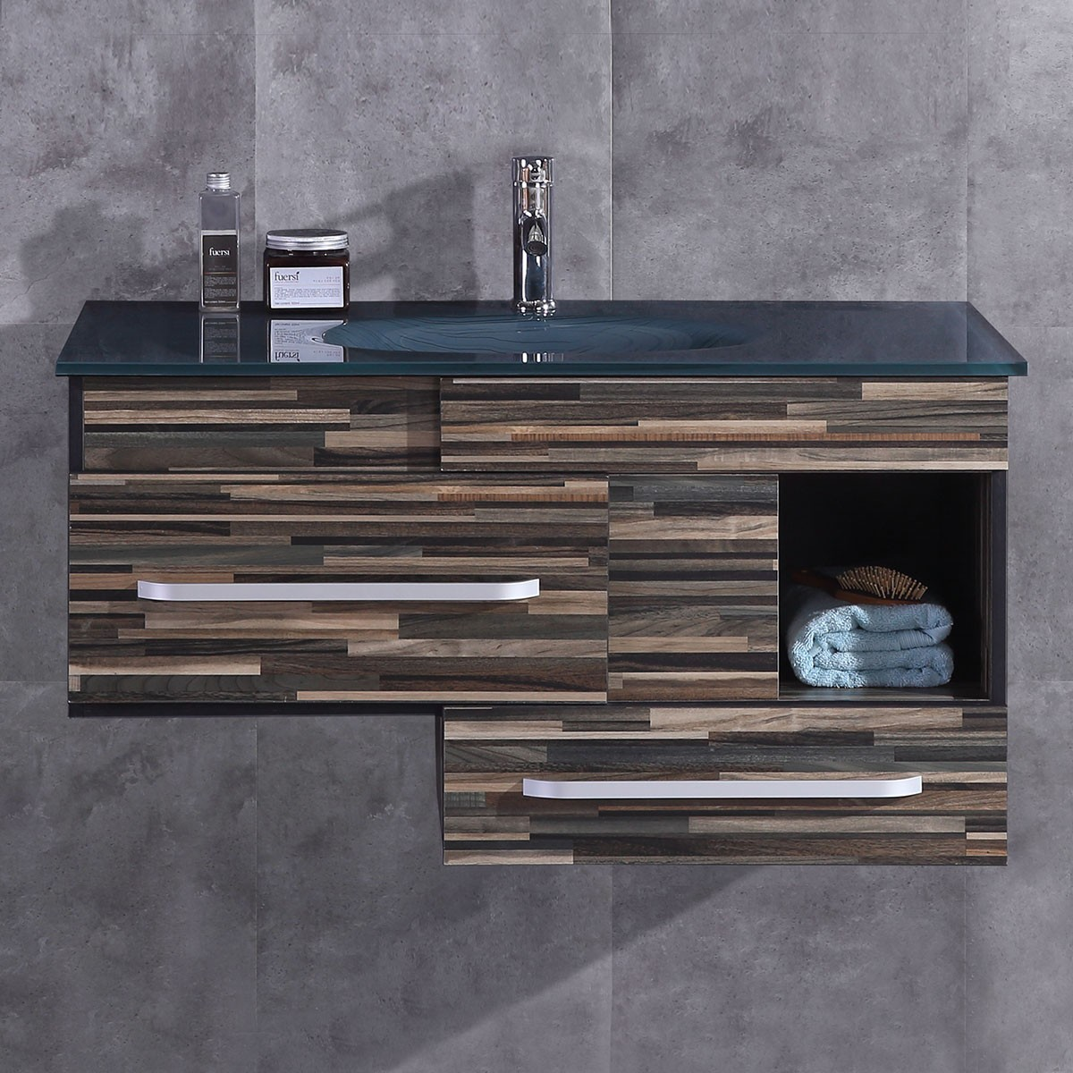 40 In. Plywood Vanity with Basin (DK-TH9032-V)